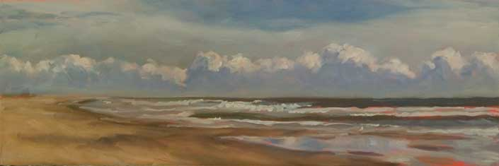 12 x 36 Oil Painting, Seascape